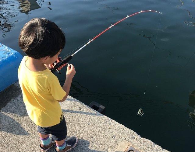 真鶴、子供達がトリックサビキでお気軽五目釣り!