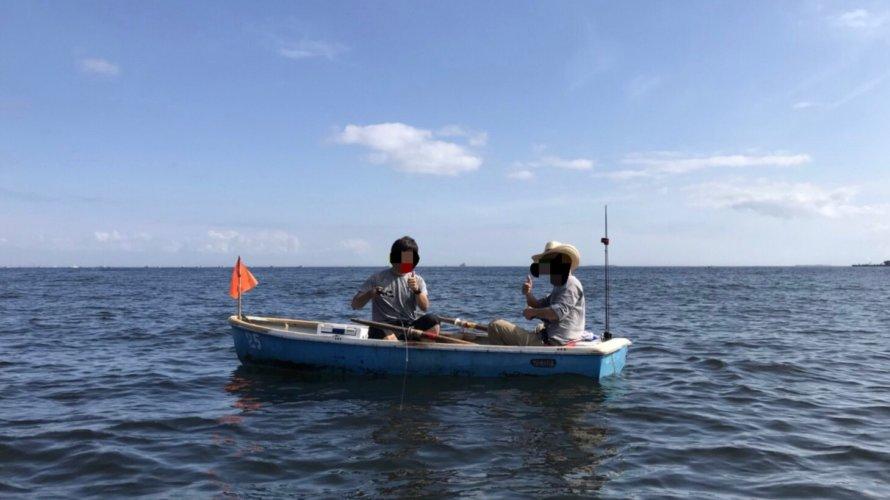 大津漁港、手漕ぎボートで尺アジと太刀魚を狙う!